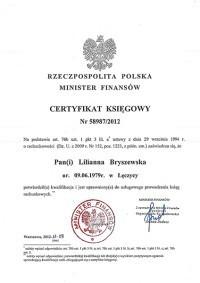 certyfikat księgowy Saving Tax