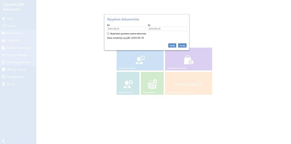 Transfer dokumentów do biura księgowego - wymiana danych